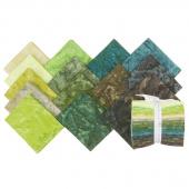 Artisan Batiks Solids - Prisma Dyes Rainforest Fat Quarter Bundle