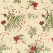 Winter Manor - Manor Floral Buff Yardage