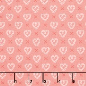 Sugar Pie - Cross My Heart Pink Yardage