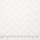"Cuddle Embossed Chevron - White 60"" Minky Yardage"
