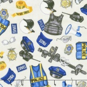 Protect & Serve - Police Gear Gray Yardage