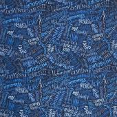 Land That I Love - State Names Blue Yardage