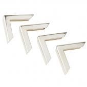 Creative with Cardboard Midi Metal Book Corners - Silver