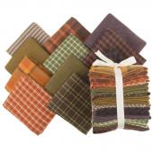 Primo Plaids Harvest Favorites Yarn Dyed Flannel Fat Quarter Bundle