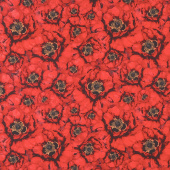 Harlequin Poppies - Packed Poppies Red Yardage