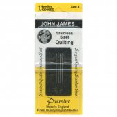 Stainless Steel Between Hands Quilting Needles - Size 8 (4 ct)