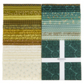 "Sage & Sea Glass 10"" Squares"
