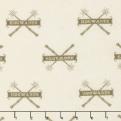 Wizarding World - Harry Potter Hogwarts & Wands in Cream Yardage