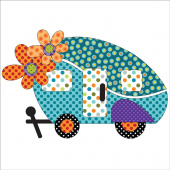 Retro Road Trip Fusible Appliqué Shapes