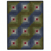 Color Wash Woolies Log Cabin Quilt POD Kit
