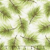 Poinsettia & Pine - Fresh Pine Cream Yardage