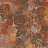 Diaphanous - Night Bloom Spice Digitally Printed Yardage