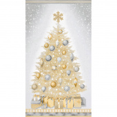 Winter's Grandeur 6 - Champagne Christmas Tree Champagne Metallic Panel