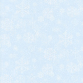 Snowy Woods - Snowflake Light Blue Yardage