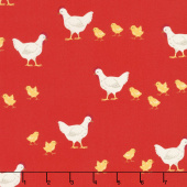 What do the Animals Say? - Chickens Red Yardage