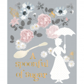 Mary Poppins - A Spoonful of Sugar Grey Metallic Panel