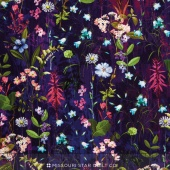 Wildwood Way - Under the Moonlight Delphinium Digitally Printed Yardage