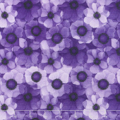 Misty - Packed Flowers Purple Digitally Printed Yardage