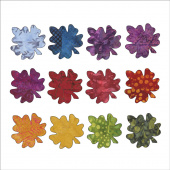 Batik Falling Maple Leaves Fusible Appliqué Shapes