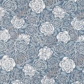 Silverstone - Flowers Steel Metallic Yardage