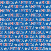 America the Beautiful - American Type Lake Blue Yardage