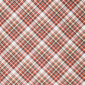 Flannel Gnomies - Diagonal Plaid Red Black Cream Yardage
