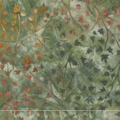 Artisan Batiks - Cornucopia 9 Branches Leaves Olive Yardage