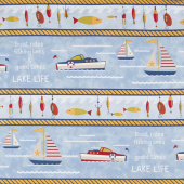 Lake Life - Repeating Stripe Multi Yardage