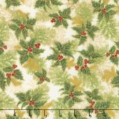 Holiday Flourish 11 - Holiday Branches Holiday Metallic Yardage