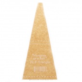22 1/2 Degree Triangle Ruler