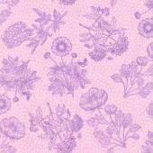 Flower Show - Toile Pink Yardage