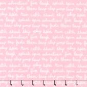 Cozy Cotton Flannels - Sweet Script Pink Yardage