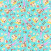 Jojo - Bow Bow Friends Emoji Multi Yardage