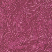 Tonga Batiks - Colorwheel Forest Dotty Spiral Beet Yardage