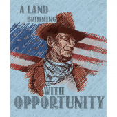 John Wayne Americana - John Wayne Blue Panel