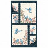 Bluebird Gathering - Bluebird Blue/Cream Panel