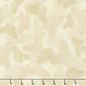 Chantrell - Butterflies Tonal Tan Yardage