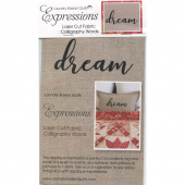 Expressions Laser Cut Fabric Words - Dream