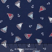 Marina - Tossed Yachts Blue Yardage