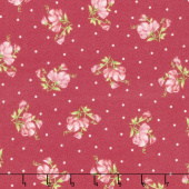 Sweet Pea - Little Sweet Peas Red/Pink Flannel Yardage