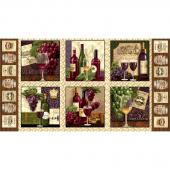 Vineyard Valley - Blocks Ecru Panel