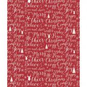 Christmas Words Fleece Blanket