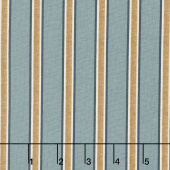 Kelmscott - Gilt Stripe Blue Yardage