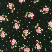 Sweet Pea - Little Sweet Peas Black Flannel Yardage