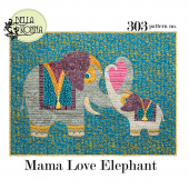 Mama Love Elephant Pattern