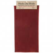 Weeks Dye Works Hand Over Dyed Wool Fat Quarter - Houndstooth Merlot