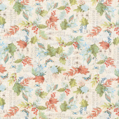 Seeds of Gratitude - Leaves Allover Tan Yardage