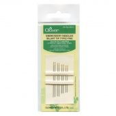 Clover Embroidery Needles Fine Blunt Tip