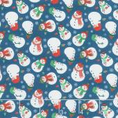 Jolly Season - Snowman Midnight Yardage