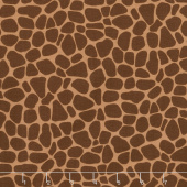 Zoe the Giraffe - Giraffe Skin Print Brown Yardage